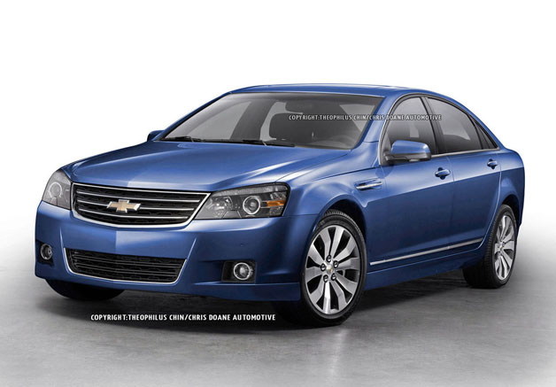 Chevrolet SS - Zeta-based sedan rendering - front three-quarter view