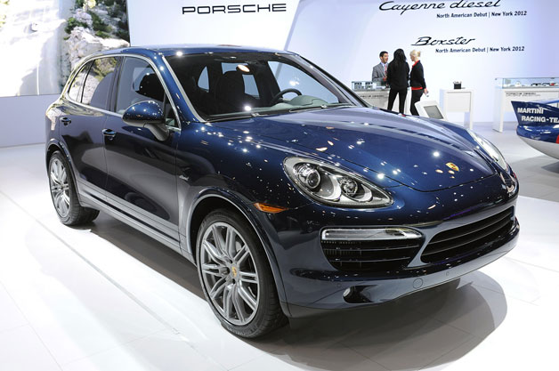 2013 Porsche Cayenne diesel live at New York reveal