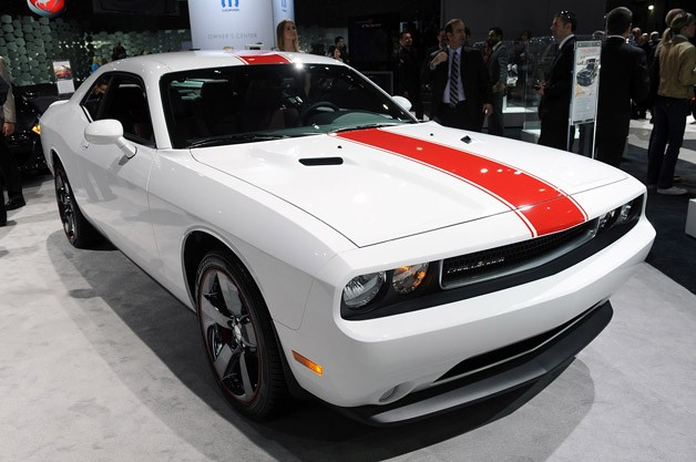 2012 Dodge Challenger Rallye Redline is black, white and red all over
