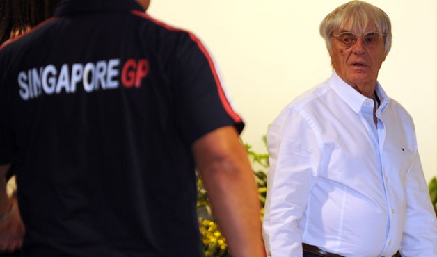 Bernie Ecclestone in Singapore