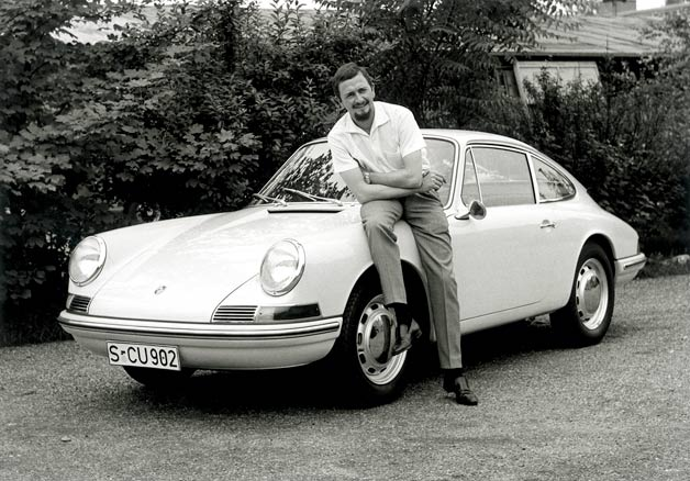 Ferdinand Alexander Porsche with early 911