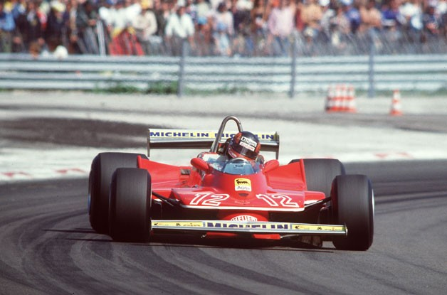 Gilles Villeneuve in the 1979 Ferrari 312 T4