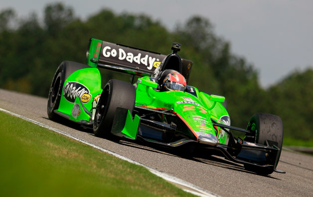 James Hinchcliffe's GoDaddy.com-liveried 2012 IndyCar