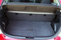 2012 Toyota Yaris SE rear cargo area