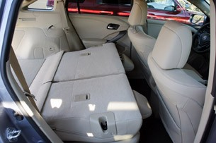 2013 Acura RDX folded rear seats