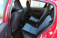 2012 Toyota Yaris SE rear seats