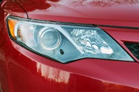 2012 Toyota Camry SE V6 headlight