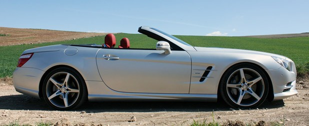 2013 Mercedes SL550 side view