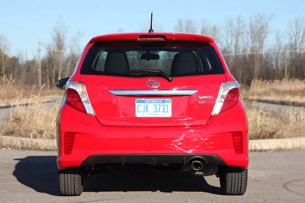 2012 Toyota Yaris SE rear view
