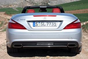 2013 Mercedes SL550 rear view