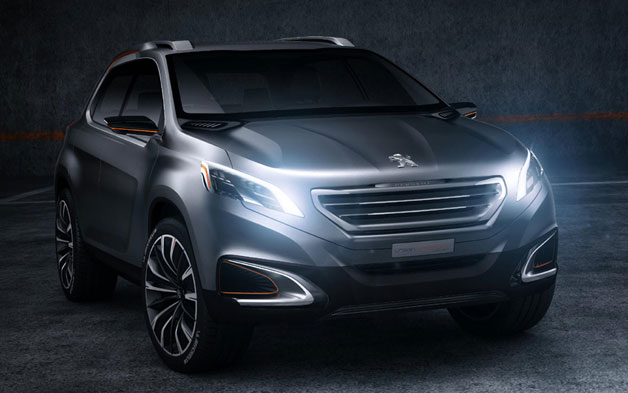 Peugeot's Urban Crossover Concept  - shadowy front three-quarter studio view