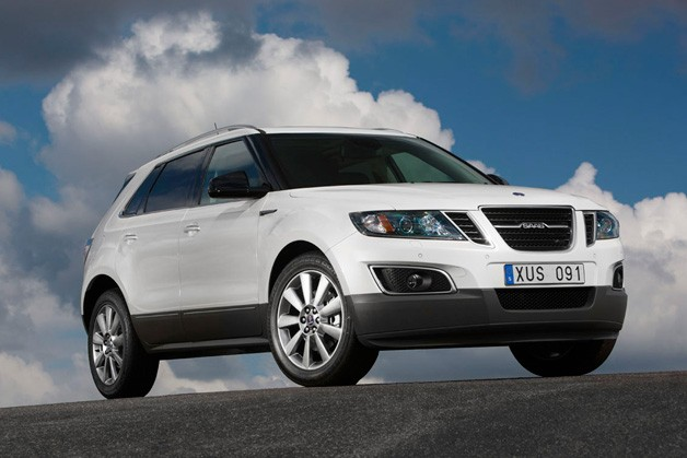 2011 Saab 9-4X - front three-quarter view