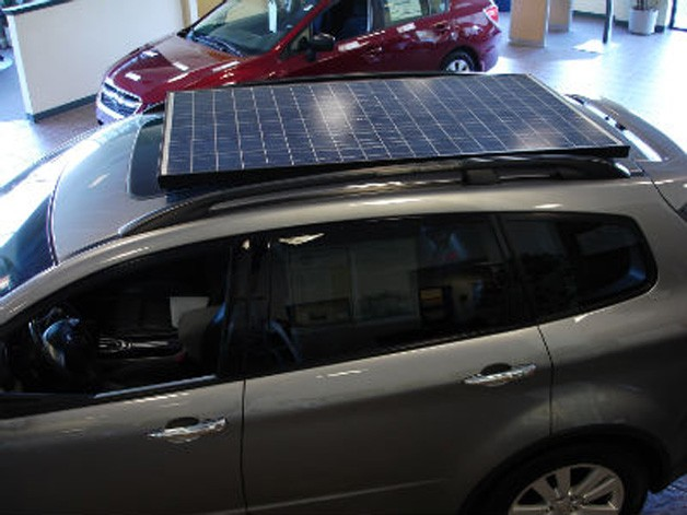 Solar-powered Subaru Tribeca