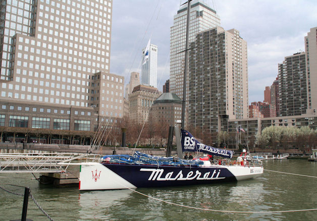 Racing yacht VOR70 Maserati