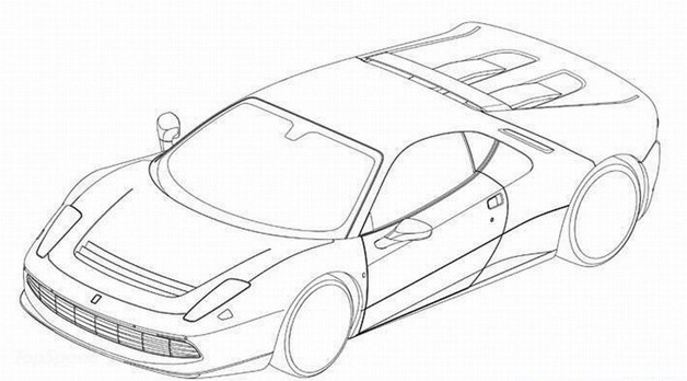 Ferrari SP12 EPC patent drawing