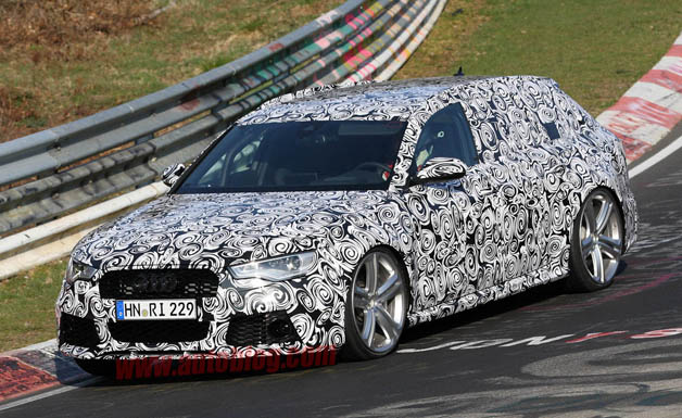 2014 Audi RS6 Avant spy shots from the 'Ring