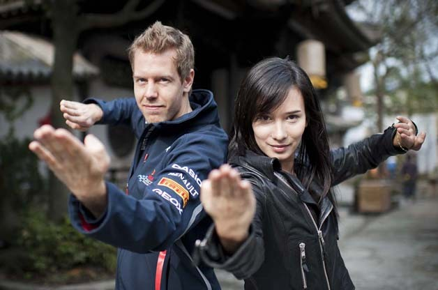 Kung Fu Vettel: Drive of the Dragon with Celina Jade