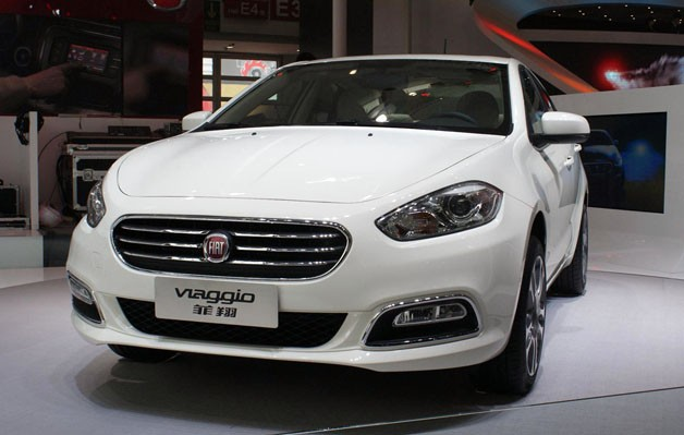 2012 Fiat Viaggio on display at 2012 Beijing Motor Show