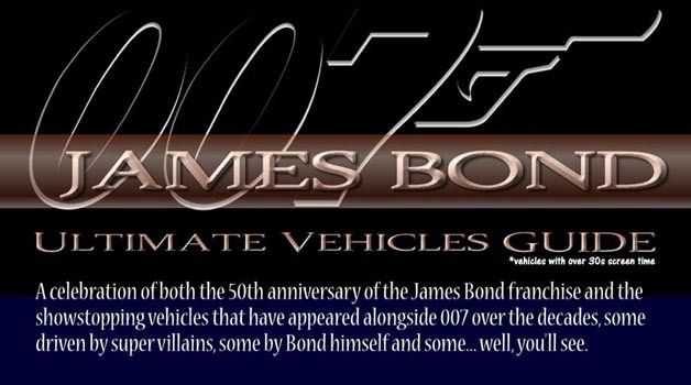 Bond vehicle infographic
