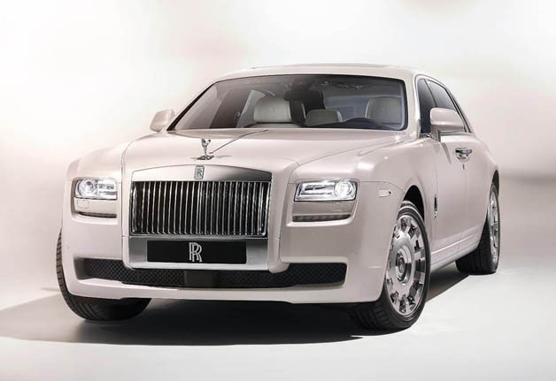 Rolls-Royce Ghost Six Senses - front three-quarter studio shot