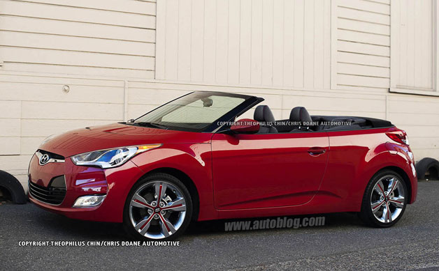 Hyundai Veloster Convertible rendering - Theophilus Chin
