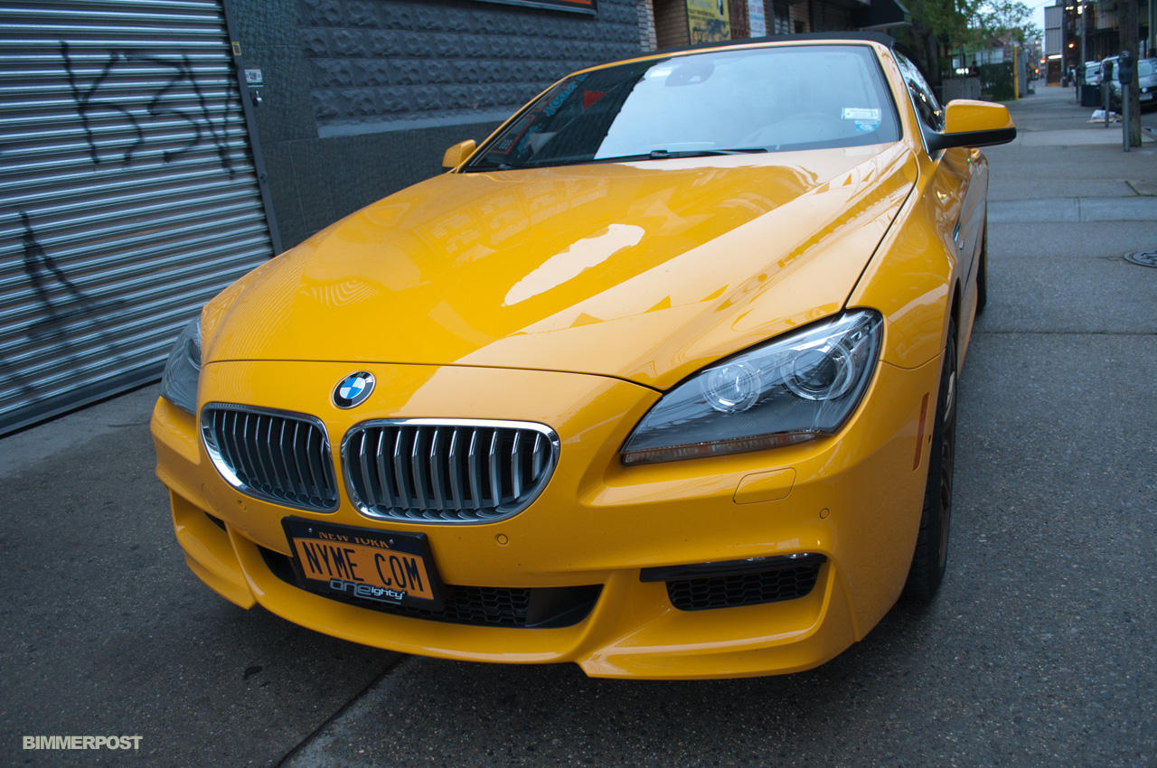Does Bmw S New 6 Series Convertible Work In Yellow Autoblog