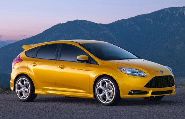 2013 Ford Focus ST - yellow - front three-quarter view