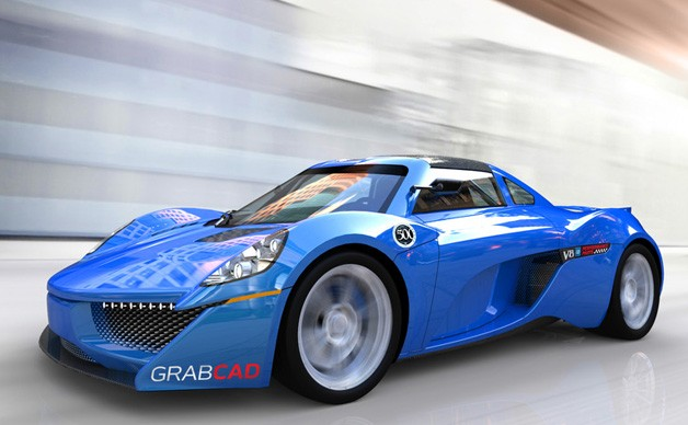 GrabCAD 500 Group Supercar Body Challenge street winner