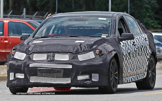 Chevrolet SS Spy Shot - front three-quarter view