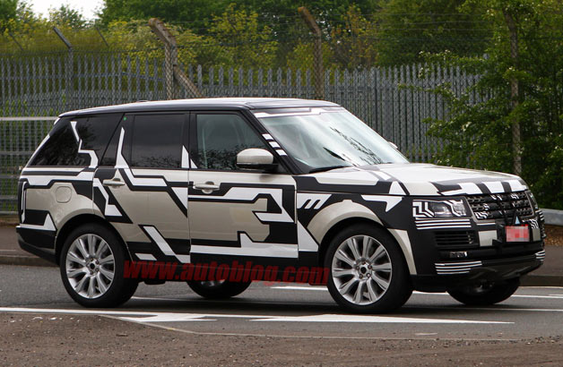 Next Land Rover Range Rover reveals some-more of the lighter body