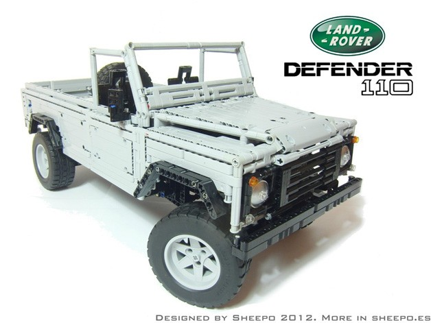 Lego Land Rover Defender 110 is plasticized soundness [w/video]