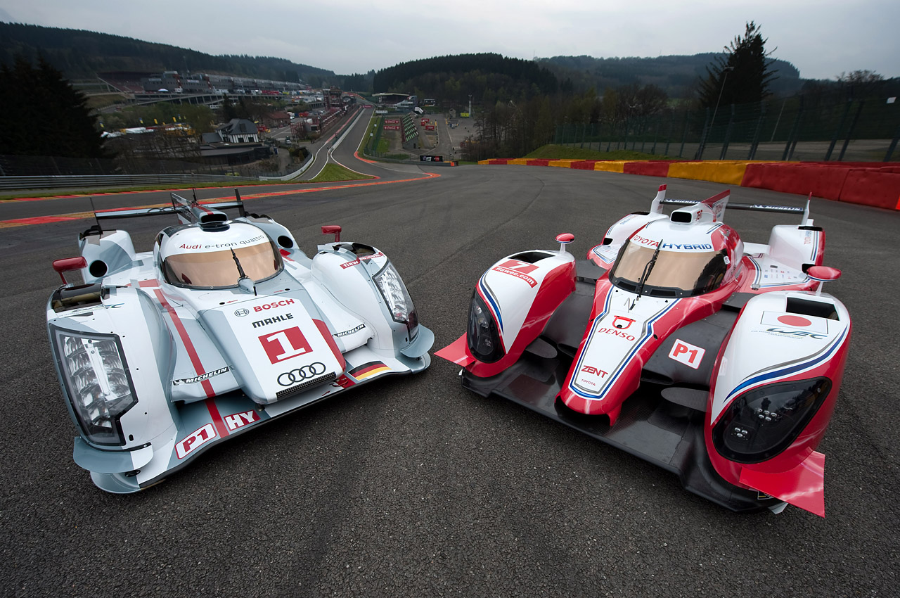 Toyota TS030 And Audi R18 E Tron Quattro Pose For The