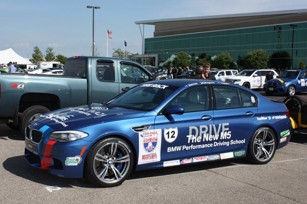 2012 BMW M5 at start of 2012 One Lap Of America