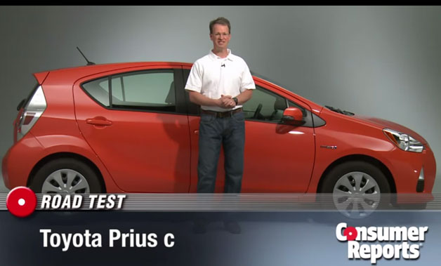 Consumer Reports' 2012 Toyota Prius C road test - screencap