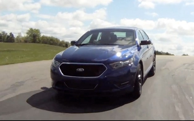 2013 Ford Taurus SHO Performance Package on track - front three-quarter view
