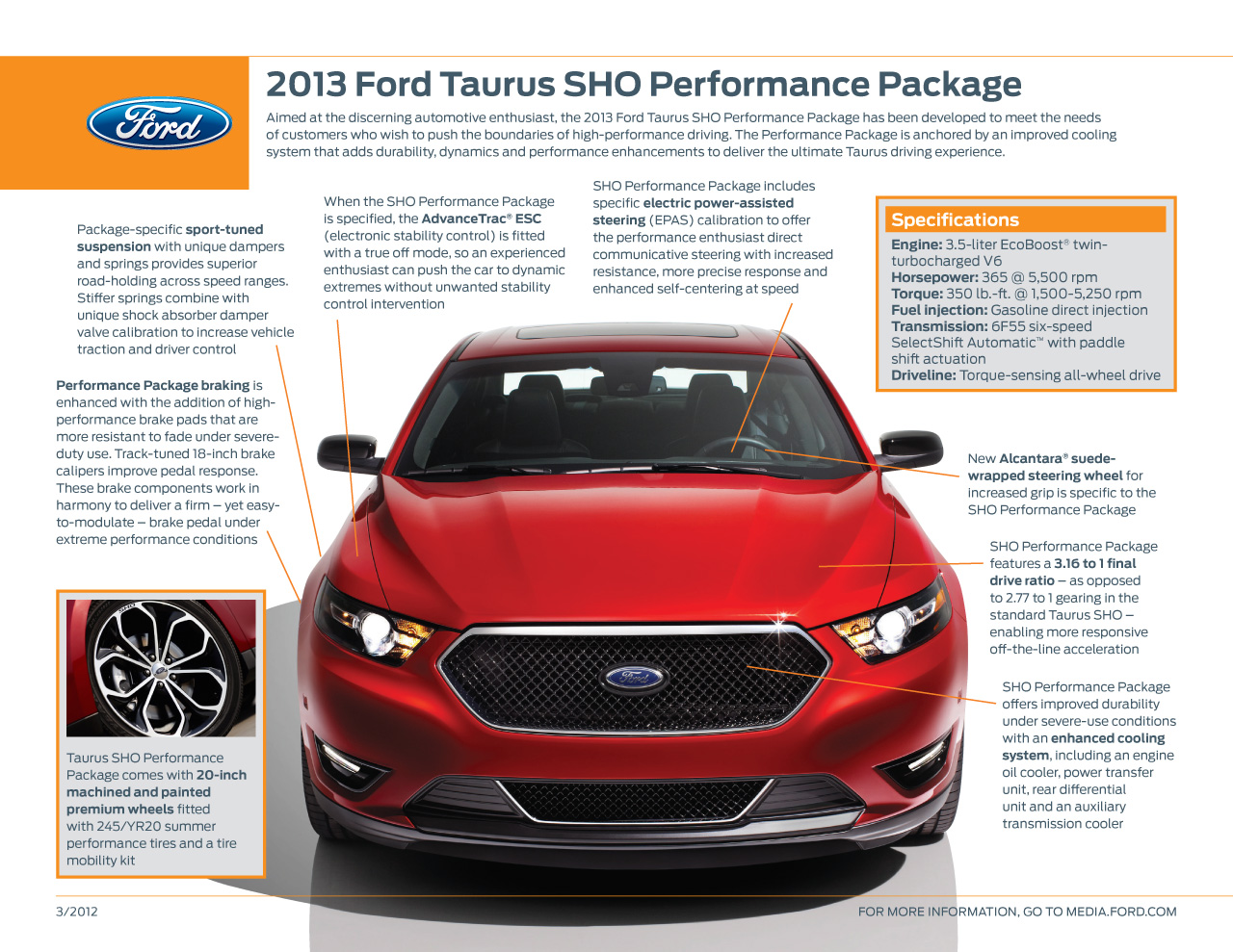 2013 ford taurus sho performance package photo gallery. Black Bedroom Furniture Sets. Home Design Ideas