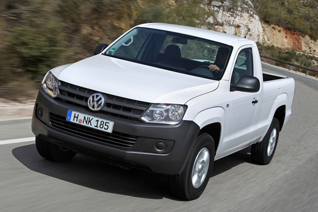 2012 Volkswagen Amarok - front three-quarter view, white
