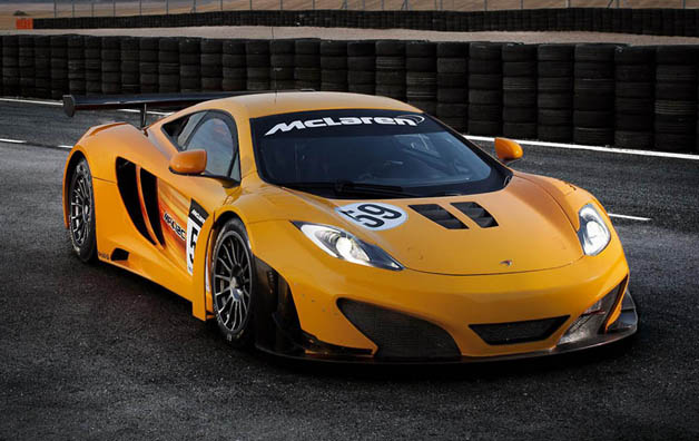 McLaren MP4-12C GT3 - front three-quarter view, yellow