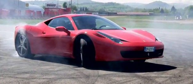 ferrari 458 doing donuts
