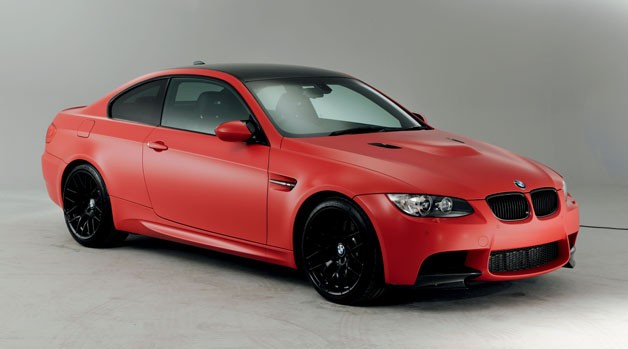 BMW M3 M Performance Edition in Frozen Red - studio shot