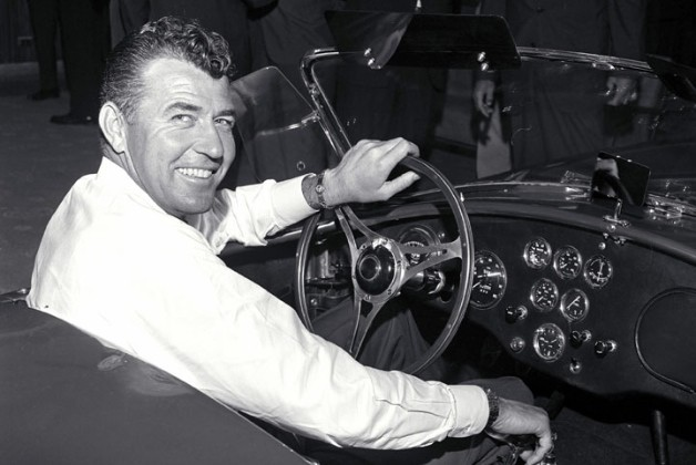 Carroll Shelby driving a Cobra