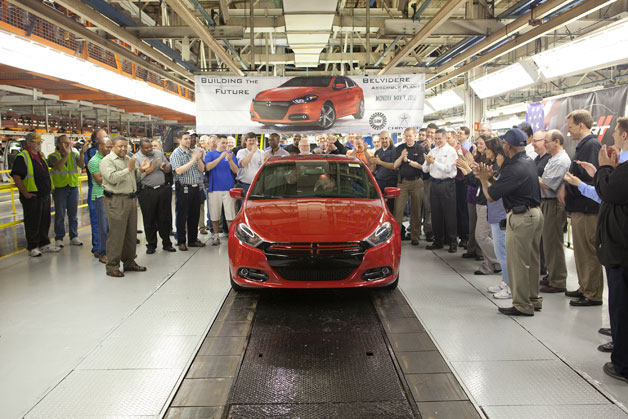 2013 Dodge Dart production kicks off in Belvidere