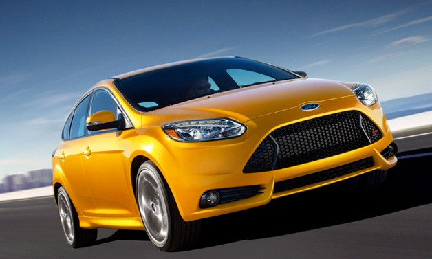 2013 Ford Focus ST - Yellow - Dynamic front three-quarter view