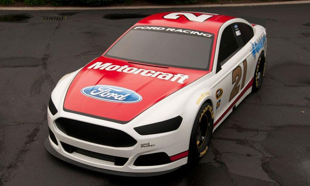 2013 Ford Fusion NASCAR in Motorcraft livery