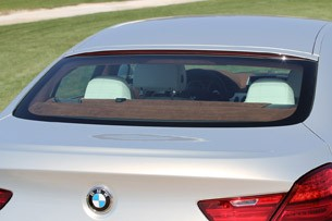 2013 BMW 6 Series Gran Coupe rear window