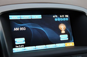 2012 Buick Verano audio system display