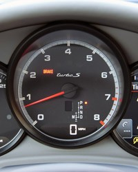 2012 Porsche Panamera Turbo S gauges