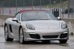 2013 Porsche Boxster S on track