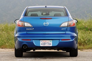 2012 Mazda3 SkyActiv rear view