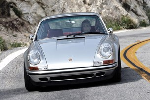 Porsche 911 Restored by Singer driving